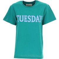 Alberta Ferretti T-Shirt for Women On Sale, Turquoise Green, Cotton, 2019, 10 8