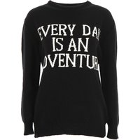 Alberta Ferretti Sweater for Women Jumper On Sale, Black, Cashmere, 2019, 10 8