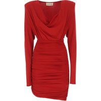 Alexandre Vauthier Dress for Women, Evening Cocktail Party On Sale, Red, viscosa, 2019, 6