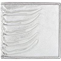 Alexander McQueen Wallet for Men, Silver, Leather, 2019