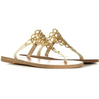 Ancient Greek Sandals Sandals for Women On Sale in Outlet, Ivory, Leather, 2021, 3.5 6.5