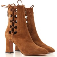 Aquazzura Boots for Women, Booties On Sale, Cinnamon, Suede leather, 2019, 3.5 4 7.5