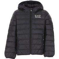 Emporio Armani Boys Down Jacket for Kids, Puffer Ski Jacket, Black, polyamide, 2021, 10Y 4Y