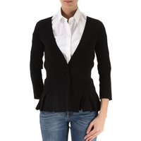 Giorgio Armani Blazer for Women On Sale, Black, Viscose, 2017, 12 14