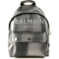 Balmain Backpack for Women On Sale, Silver, Leather, 2019