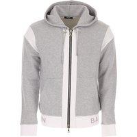 Balmain Sweatshirt for Men On Sale, Grey, Cotton, 2019, M S