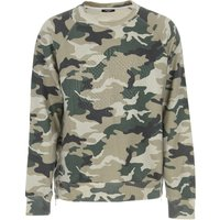 Balmain Sweatshirt for Men On Sale, Military Green, Cotton, 2019, M XL
