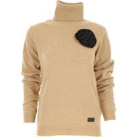 Blumarine Sweater for Women Jumper On Sale, Beige, Wool, 2019, 10 12 8
