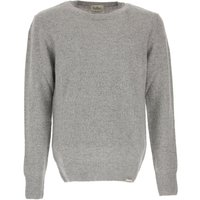 Brooksfield Sweater for Men Jumper, Melange Grey, Virgin wool, 2019, L M