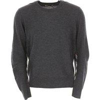 Burberry Sweater for Men Jumper, Charcoal, merino wool, 2019, M S