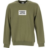 Burberry Sweatshirt for Men On Sale, Green, Cotton, 2019, L M