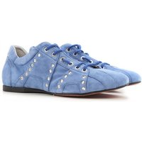 Cesare Paciotti Lace Up Shoes for Men Oxfords, Derbies and Brogues On Sale in Outlet, Denim Light Bl