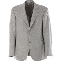 Canali Blazer for Men, Sport Coat On Sale, Light Grey, Cotton, 2017, M XL XXL XXXL