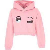 Chiara Ferragni Kids Sweatshirts & Hoodies for Girls On Sale, Pink, Cotton, 2019, 10Y 12Y 4Y 8Y