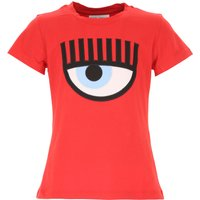 Chiara Ferragni Kids T-Shirt for Girls On Sale, Red, Cotton, 2019, 10Y 12Y 4Y 6Y 8Y