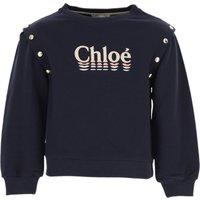 Chloe Kids Sweatshirts & Hoodies for Girls On Sale, Blue, Cotton, 2019, 10Y 12Y 2Y 3Y 4Y 6Y 8Y