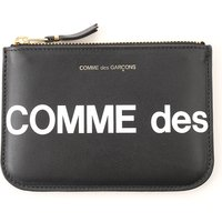 Comme des Garcons Wallet for Men, Black, Leather, 2019