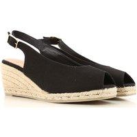 Castaner Sandals for Women, Black, Canvas, 2021, 3.5 4.5 5.5