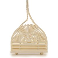 Cult Gaia Top Handle Handbag On Sale, Natural, Bamboo, 2019