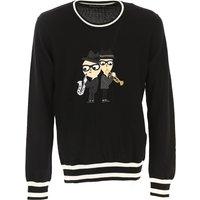 Dolce & Gabbana Sweater for Men Jumper On Sale in Outlet, Black, Virgin wool, 2017, M S XS
