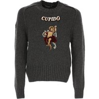 Dolce & Gabbana Sweater for Men Jumper On Sale in Outlet, Anthracite Grey, Wool, 2019, M XL