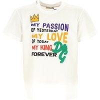 Dolce & Gabbana Camiseta para Niño Baratos en Rebajas, Blanco, Algodon, 2019, 10Y 8Y