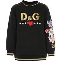 Dolce & Gabbana Kids Sweatshirts & Hoodies for Girls, Black, Cotton, 2019, 10Y 12Y 3Y 4Y 5Y 6Y 8Y