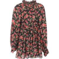 Dolce & Gabbana Camisas para Niña Baratos en Rebajas Outlet, Negro, Seda, 2019, 12Y 4Y