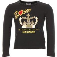 Dolce & Gabbana Kids T-Shirt for Girls On Sale, Black, Cotton, 2019, 12Y 2Y 3Y 4Y 6Y 8Y