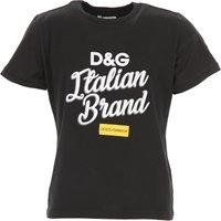 Dolce & Gabbana Kids T-Shirt for Girls On Sale, Black, Cotton, 2019, 10Y 4Y 6Y 8Y