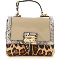 Dolce & Gabbana Top Handle Handbag On Sale, Mud, Patent Leather, 2017