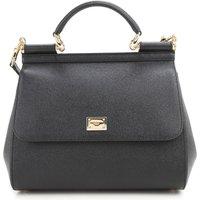 Dolce & Gabbana Top Handle Handbag, Black, Leather, 2019