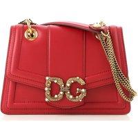 Dolce & Gabbana Shoulder Bag for Women, Poppy Red, Leather, 2019