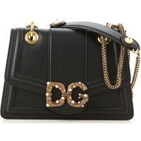 Dolce & Gabbana Shoulder Bag for Women, Black, Leather, 2019
