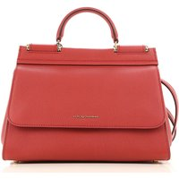 Dolce & Gabbana Tote Bag On Sale, Poppy Red, Leather, 2019