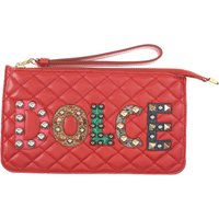 Dolce & Gabbana Women's Pouch On Sale, Red, Leather, 2019
