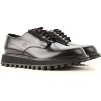 Dolce & Gabbana Lace Up Shoes for Men Oxfords, Derbies and Brogues On Sale, Black, Leather, 2019, 10