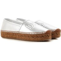Dolce & Gabbana Slip on Sneakers for Women On Sale in Outlet, Silver, Leather, 2019, 3.5 4.5