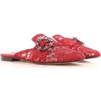Dolce & Gabbana Sandals for Women On Sale, Red, Leather, 2017, 2.5 3.5 4 4.5 5.5 6