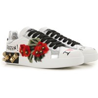 Dolce & Gabbana Sneakers for Women, White, Leather, 2019, 3.5 4.5 6.5 7.5 8.5