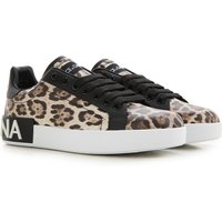 Dolce & Gabbana Sneakers for Women On Sale in Outlet, Leopard, Leather, 2019, 3 3.5 4.5 5.5 6 6.5