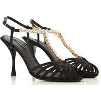 Dolce & Gabbana Sandals for Women On Sale, Black, Leather, 2019, 3.5 4 4.5 5.5 6 6.5 7.5