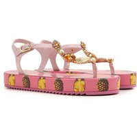 Dolce & Gabbana Sandals for Women On Sale in Outlet, Ananas, PVC, 2019, 2.5 3.5