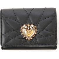 Dolce & Gabbana Wallet for Women On Sale, Black, Leather, 2019