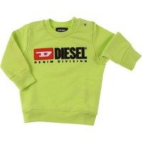 Diesel Baby Sweatshirts & Hoodies for Boys On Sale, Lime, Cotton, 2019, 12 M 18M 3M