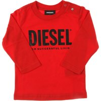Diesel Baby Sweatshirts & Hoodies for Boys On Sale, Red, Cotton, 2021, 12 M 18M 6M
