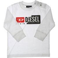 Diesel Baby Sweatshirts & Hoodies for Boys On Sale, White, Cotton, 2021, 12 M 18M