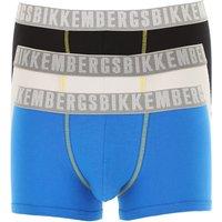 Bikkembergs Boxer Briefs for Men, Boxers On Sale, 3 Pack, Light Blue, Cotton, 2019, S (IT 3) M (IT 4