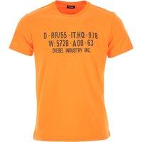 Diesel T-Shirt for Men On Sale, Orange, Cotton, 2019, L XL