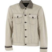 Diesel Jacket for Men On Sale in Outlet, Illie, White, Cotton, 2019, L XL